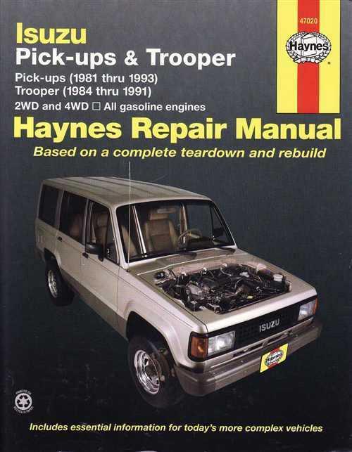 1990 holden rodeo workshop manual