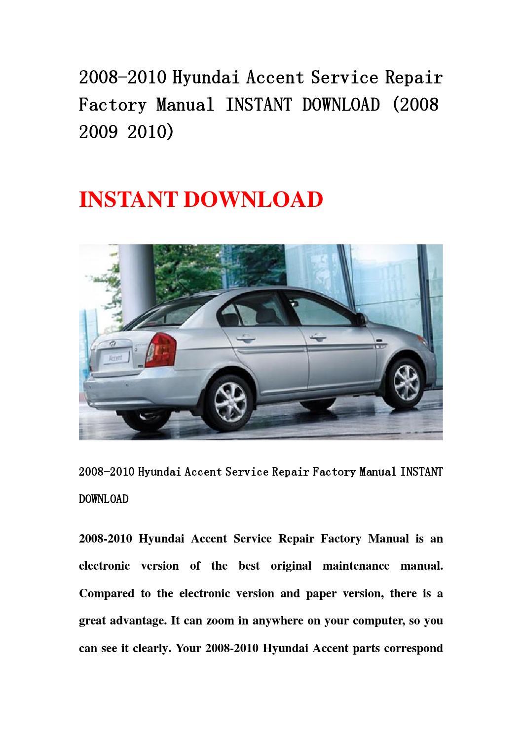 2008 hyundai accent owners manual download