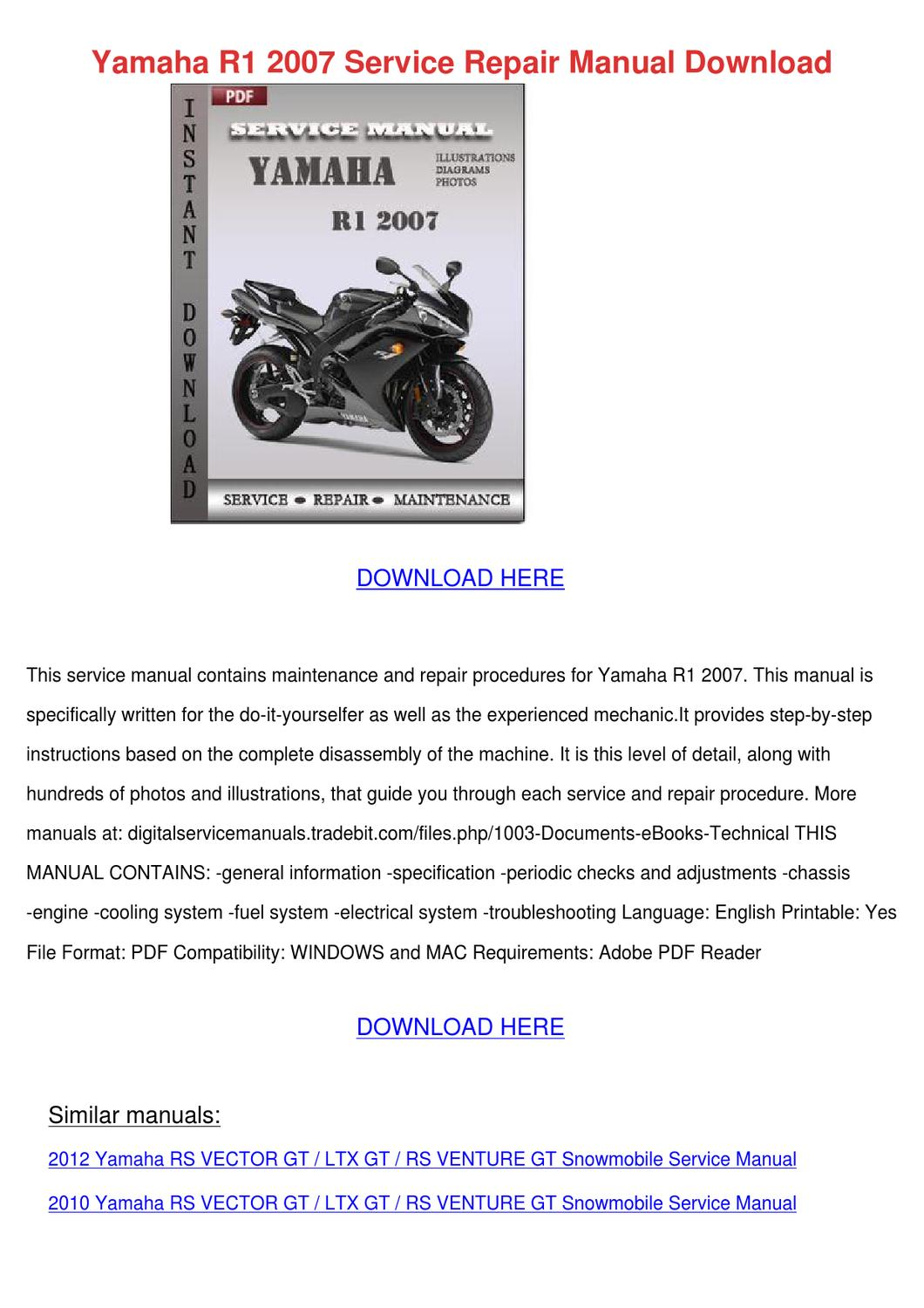 2010 yamaha r6 service manual pdf
