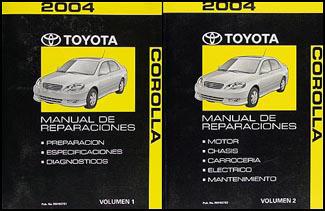 2012 toyota corolla repair manual