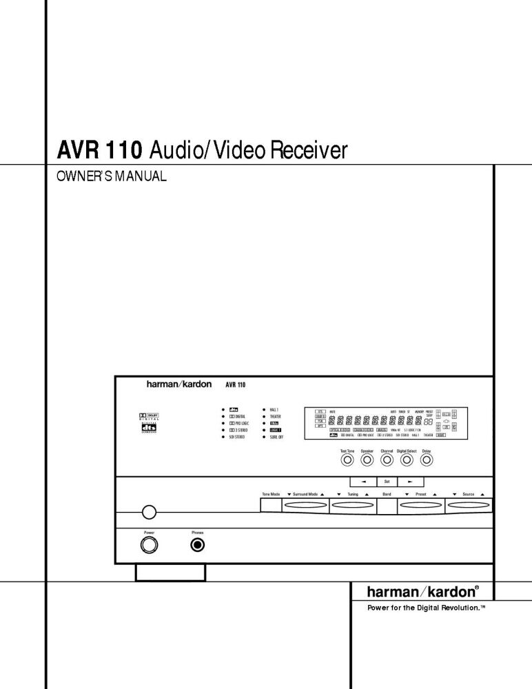 harman kardon avr 151s manual