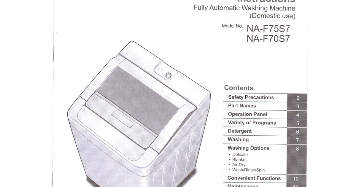 ignis washing machine manual instruction