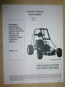 carter go kart parts manual