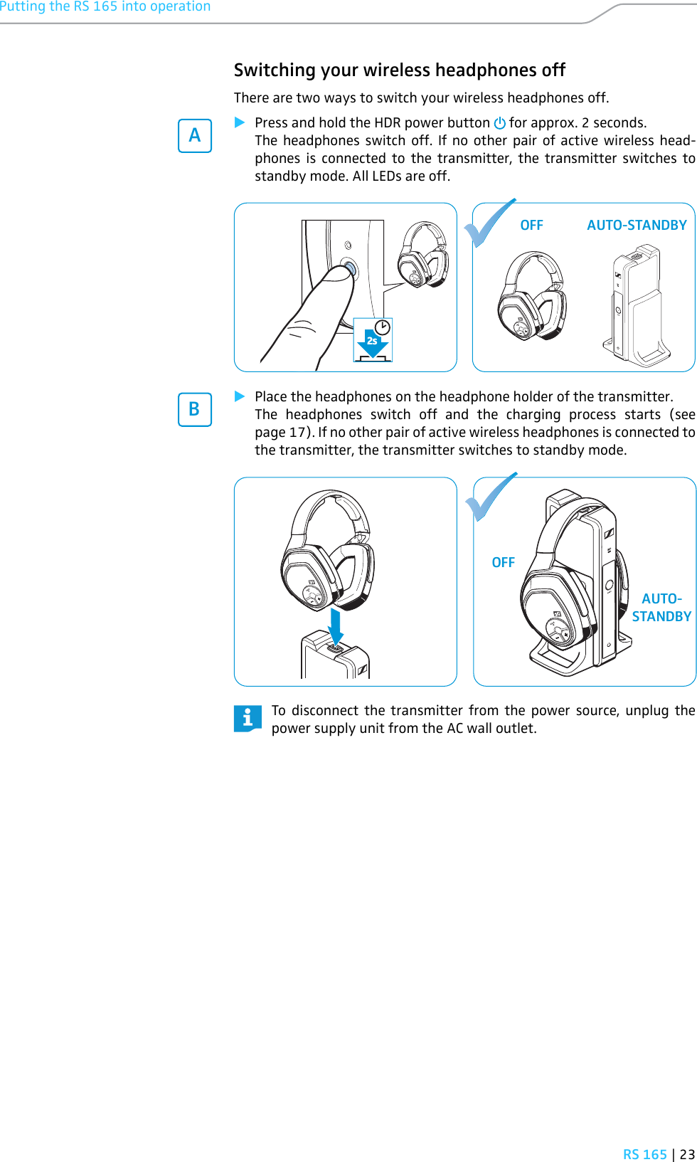 sennheiser headphones rs 160 manual