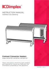 dimplex eco heater instruction manual