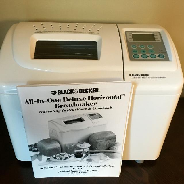 black and decker all in one breadmaker b2200 manual
