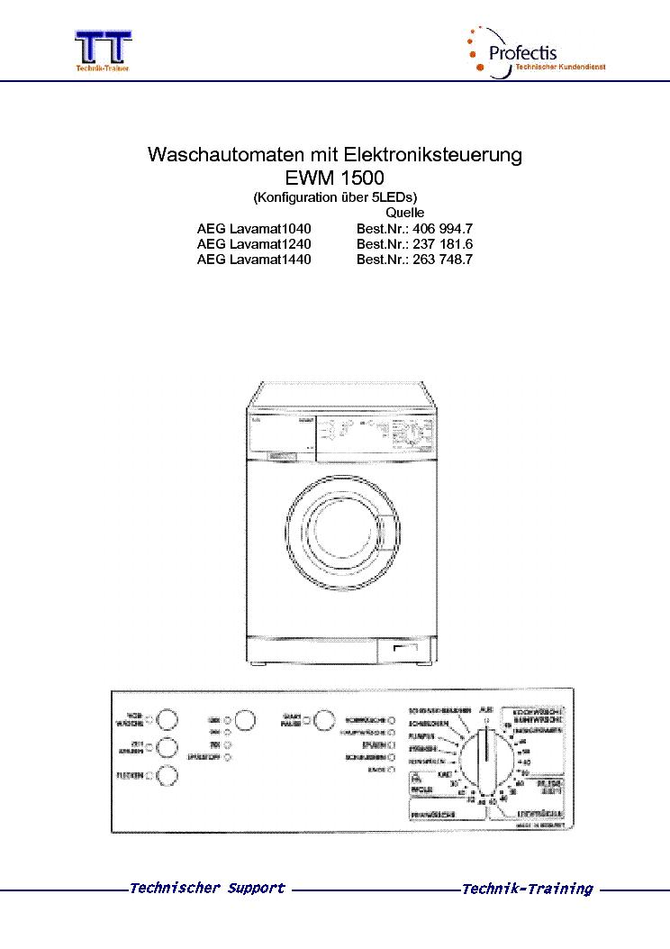 electrolux aeg lavamat turbo manual