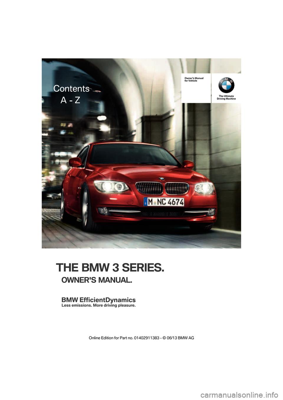 bmw 3 series owners manual pdf
