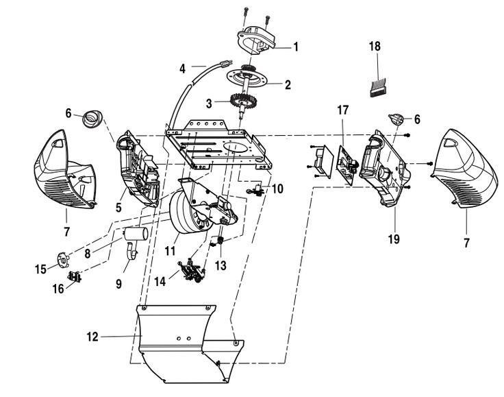 chamberlain garage door opener parts manual
