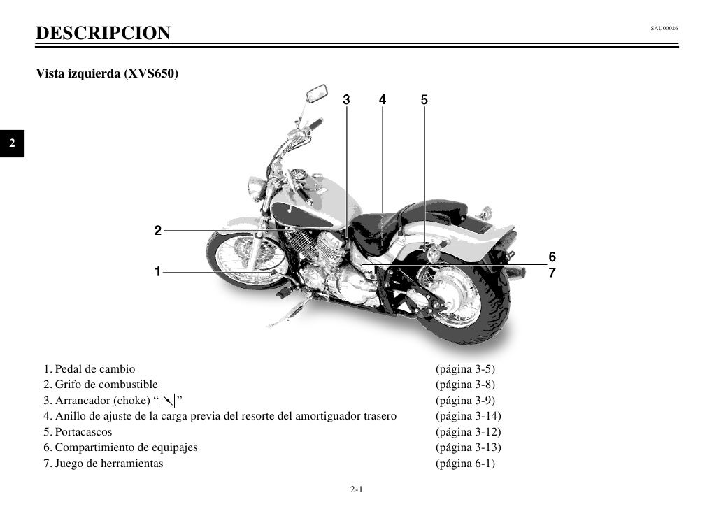 yamaha v star 650 manual