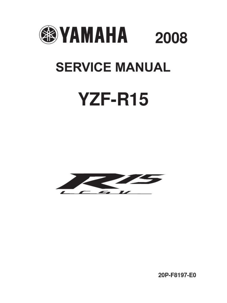 yzf r3 service manual pdf