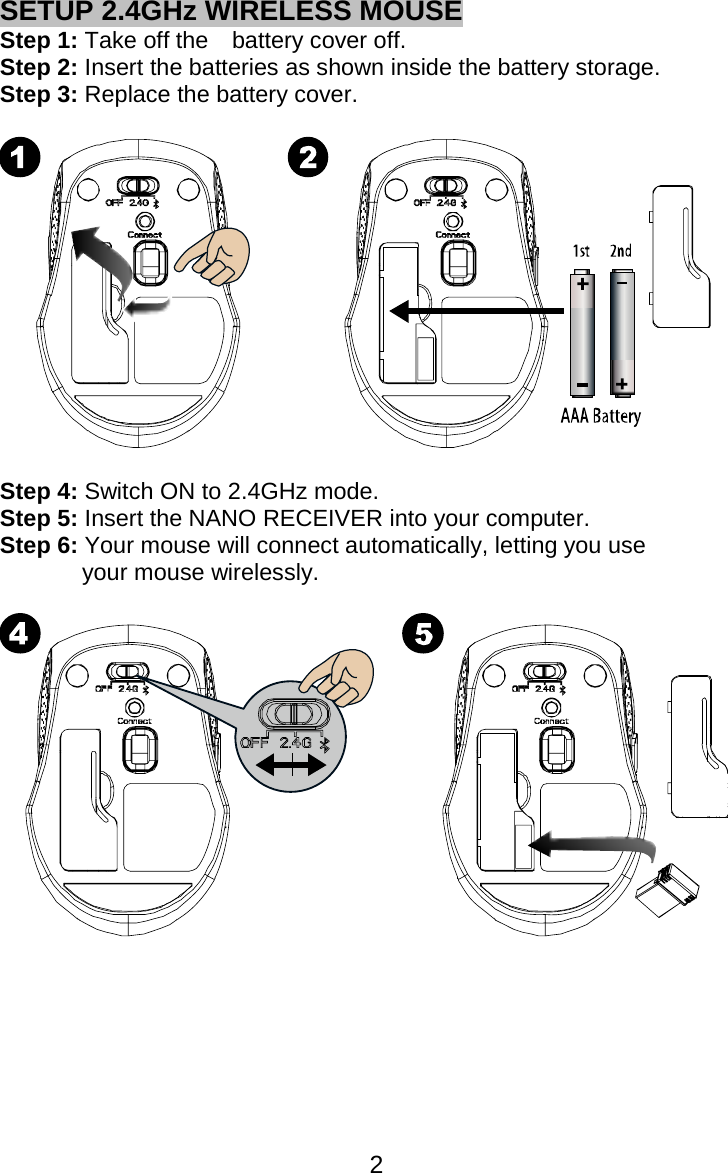 microsoft wireless mouse 5000 user manual