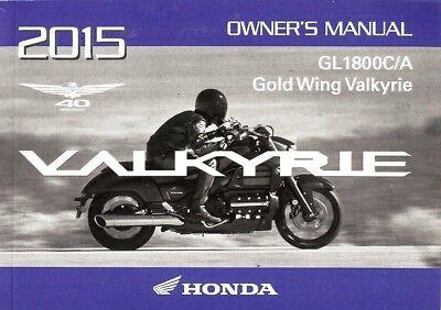 2015 honda goldwing owners manual