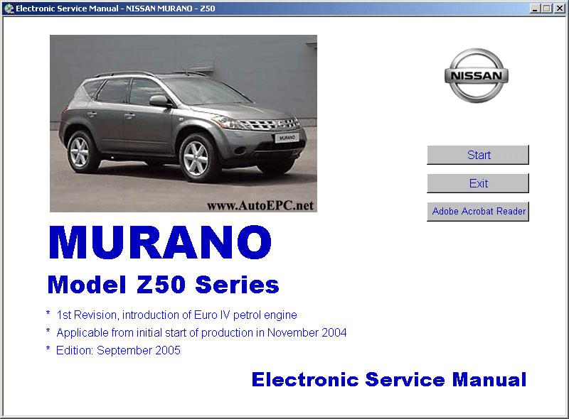 nissan murano z50 service manual
