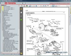 2001 toyota corolla owners manual