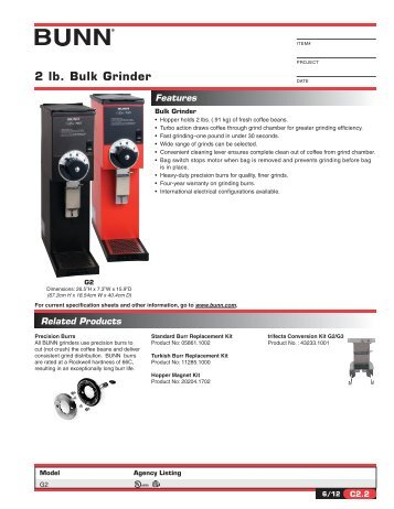 bunn ultra 2 parts manual pdf
