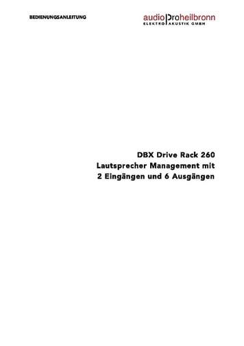 dbx driverack pa manual download