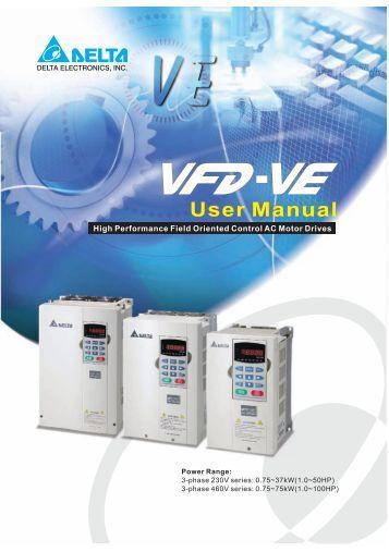 delta vfd b user manual