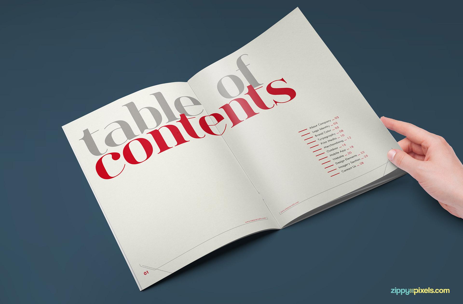 corporate identity manual template pdf