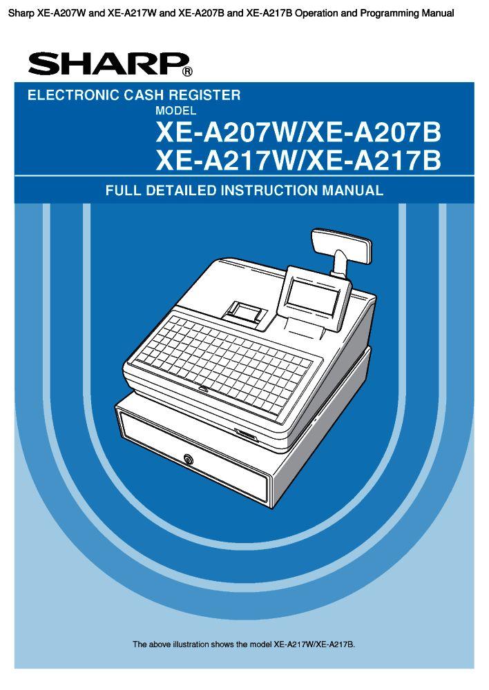 sharp xe a207b user manual