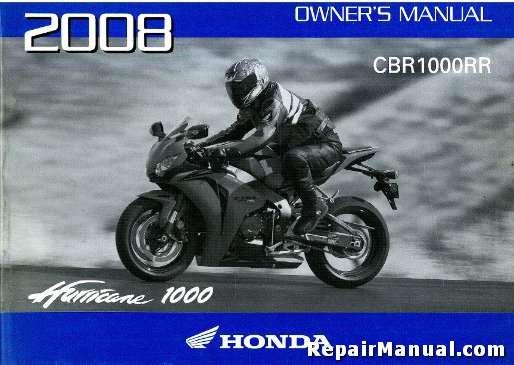 2012 honda cbr1000rr owners manual