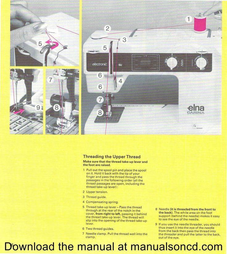 elna el2000 sewing machine manual