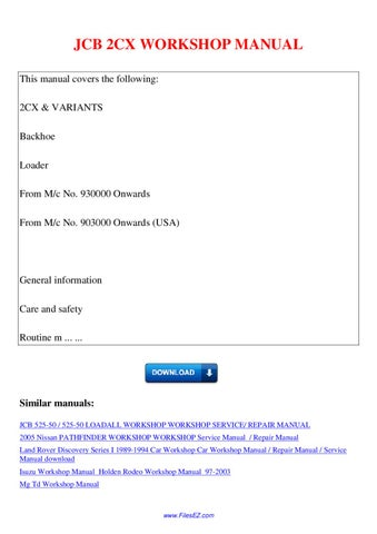 holden rodeo tf workshop manual download