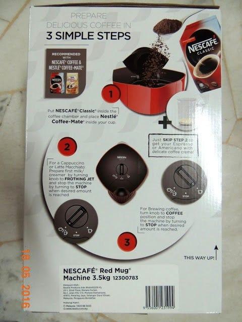 nescafe red mug user manual