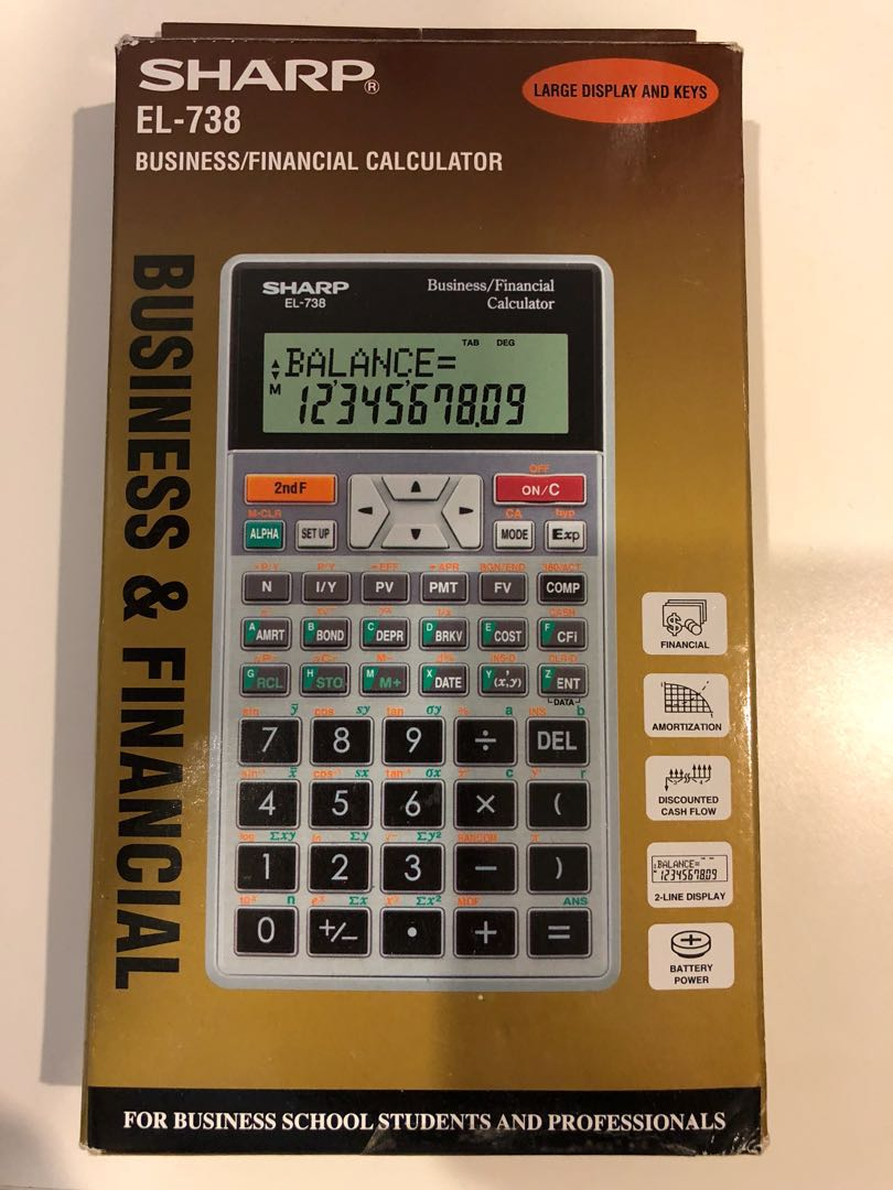 sharp el 738 calculator manual