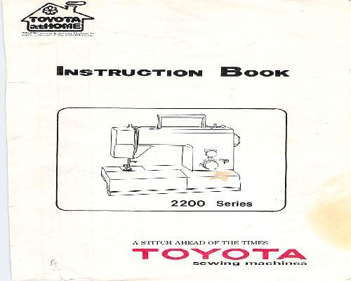 toyota 850 embroidery machine manual